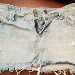 Hollister Blue Jean Skirt